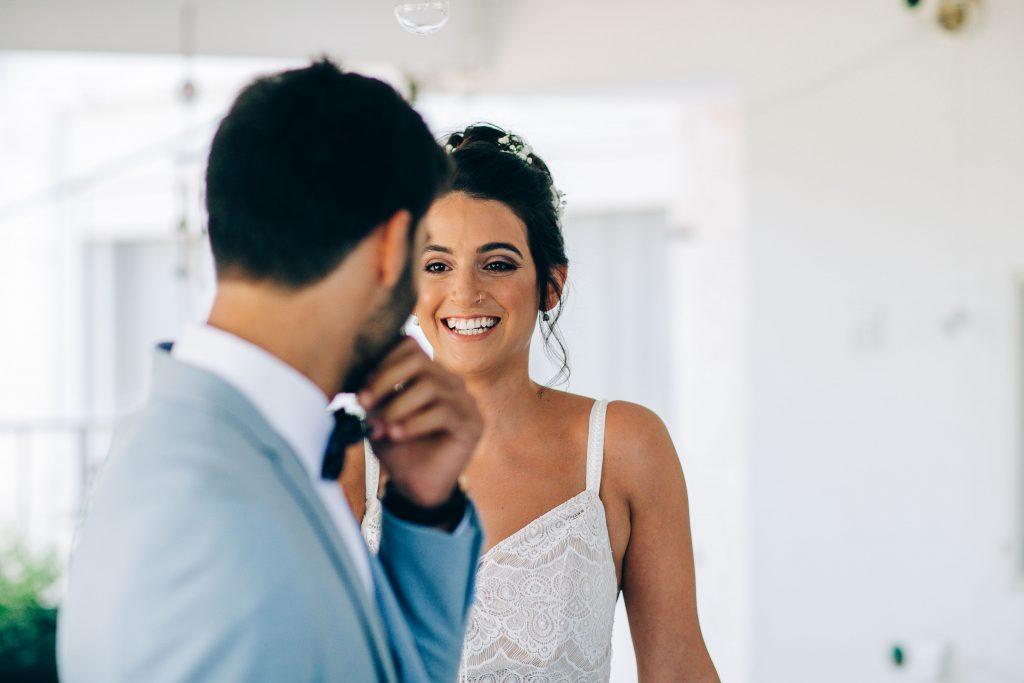 המבט הראשון של החתן שרואה את אישתו לעתיד