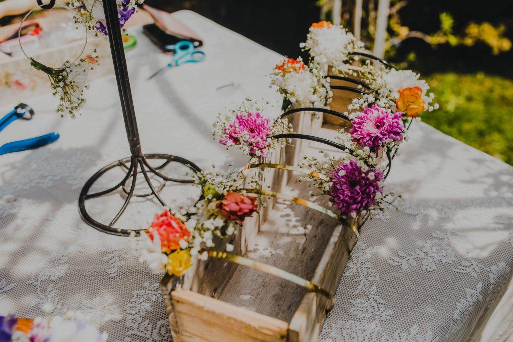 עמדת שזירה בחתונה חתונת שישי צהריים